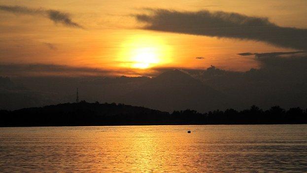Sonnenuntergang auf Gili Air, Indonesien