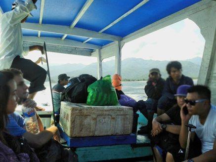 Schiff nach Gili Trawangan, Gilis, Indonesien