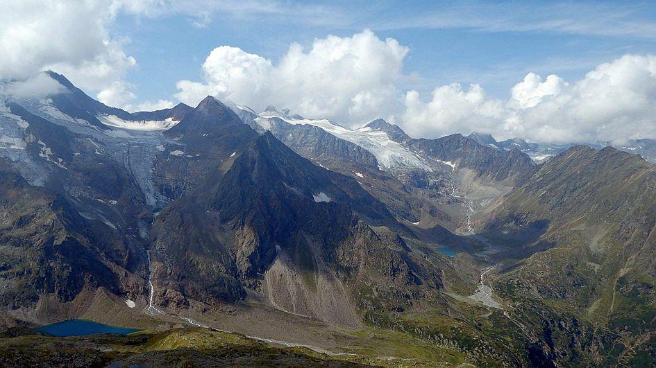 Gletscherpanorama am Stubaier Höhenweg