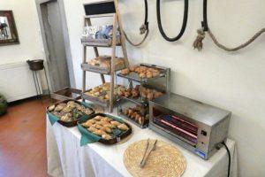 Frühstücksbuffet im Hotel Paggeria Medicea in der Toskana