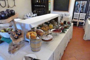 Frühstücksbuffet im Hotel Paggeria Medicea in Artimino