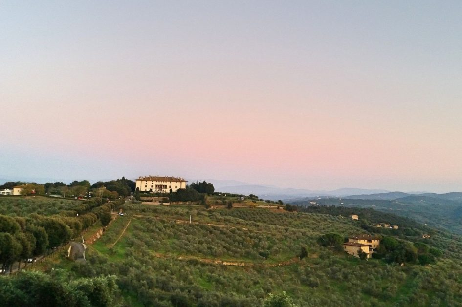 Medici Villa auf einem Hügel der Tenuta di Artimino